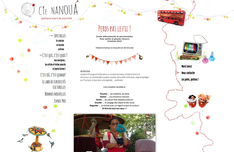cie nanoua - site web