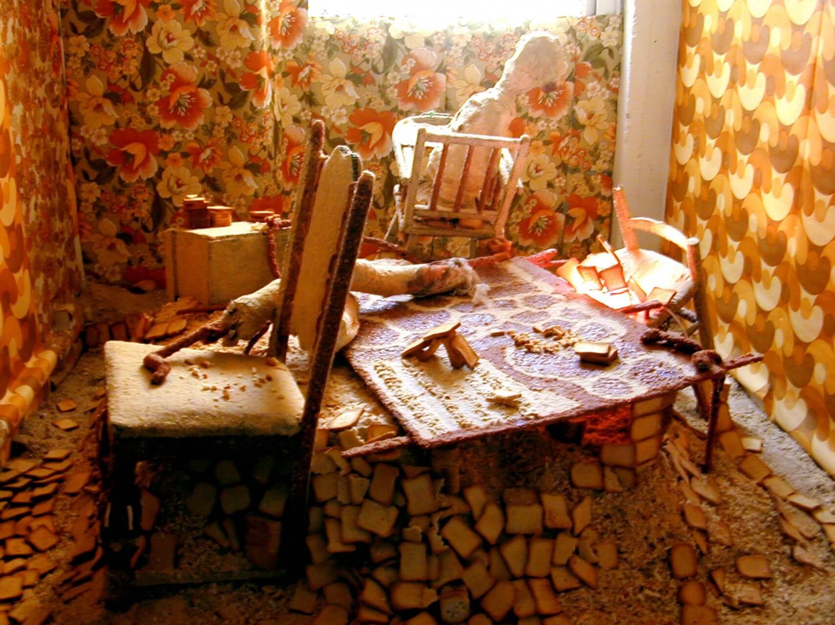 Reliquaire ou autel embiscotté